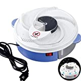 Khannika Electric Fly Trap Device with Trapping Food – Safe and Green with White USB Cable & Extra Fly Killer Instruction – Perfect High Efficiency Kitchen Tool (110V) (ฺBlue)