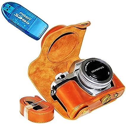First2savvv XJPT EM10II-Funda de piel sintética para cámaras ...
