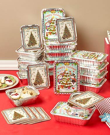 Holiday Goodie Food Containers Christmas