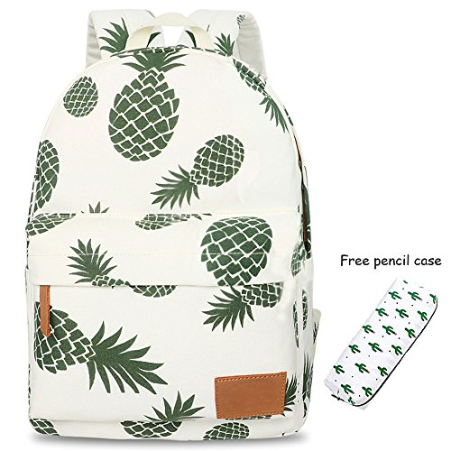 Backpacks Pineapple Backpack for Girls School Bags Girl School College Bookbag with Pencil Case