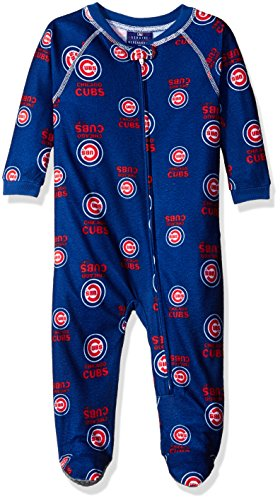 MLB Chicago Cubs Infant Boys Sleepwear All Over Print Zip Up Coveralls, 24 Months, Deep Royal