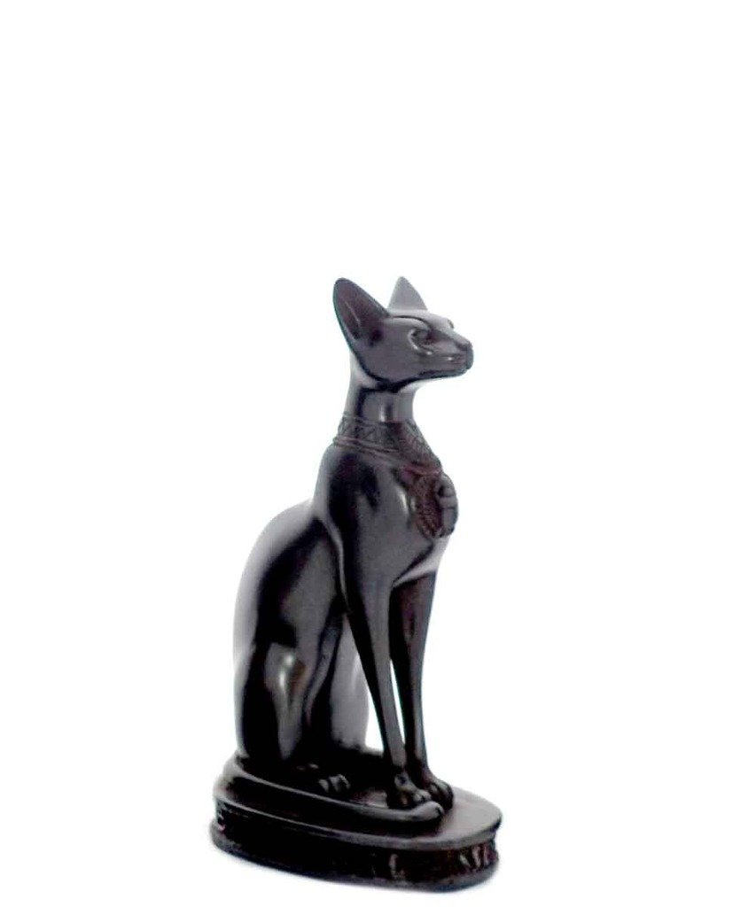 Bastet Cat Goddess Statue Collectible Figurine – Made in Egypt and Packaged in Decorative Hieroglyphicボックス M ブラック 80-5940BK B01HFOLJD0 Medium|ブラック ブラック Medium