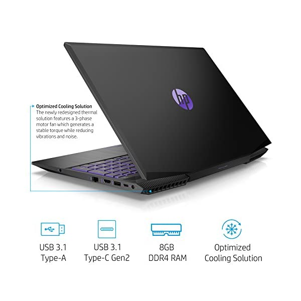 HP Pavilion Gaming 15-cx0140tx FHD Gaming Laptop (8th Gen i5-8300H/8GB/1TB HDD/NVIDIA GTX 1050 4GB Graphics/Win 10/MS… -  - Laptops4Review