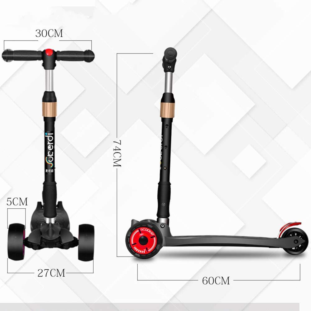Amazon.com: Giow - Patinete infantil con cuatro ruedas ...