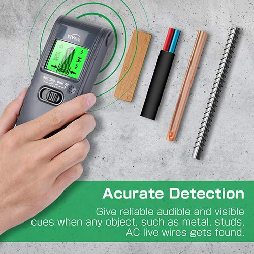 ... Wall Detector Finders with Digital LCD Display, Center Finding Stud Sensor & Sound Warning for Studs/Wood/Metal/Live AC Wires Detection - - Amazon.com