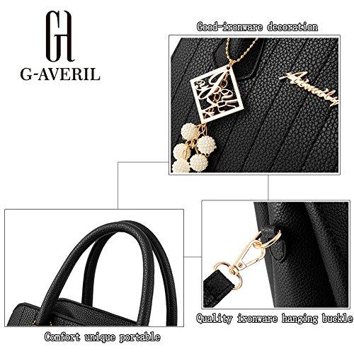 Bag G PU a Mano pelle Designer a Fashion borsa Spalla Borse Donna nero AVERIL Borsa 5xYrxqgU