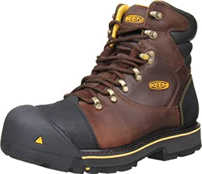 Keen Utility Men's Milwaukee 6-Inch Steel Toe Work Boot,Brown,7 EE US