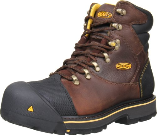KEEN Utility Men's Milwaukee 6-Inch Steel Toe Work Boot,Slate Black,12 EE US