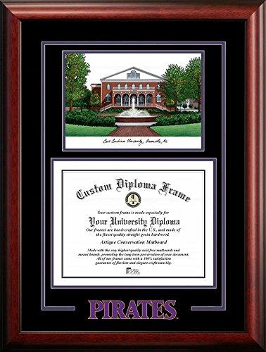 ECU East Carolina University Alumni Mahogany Diploma Frame by Landmark Publishing