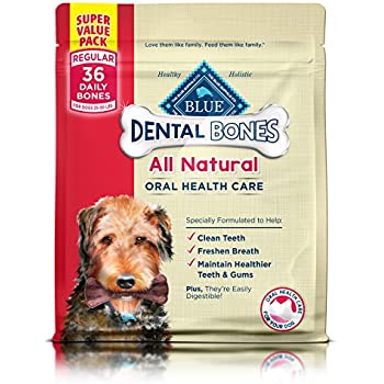 BLUE Dental Bones Adult Regular Dental Chew Dog Treat 36-oz Super Value Pack