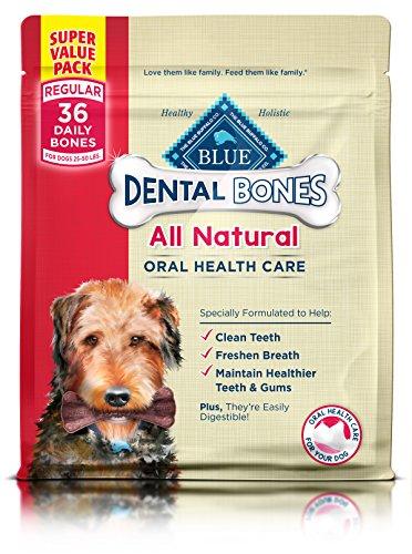 Bone Value Pack - BLUE Dental Bones Adult Regular Dental Chew Dog Treat 36-oz Super Value Pack