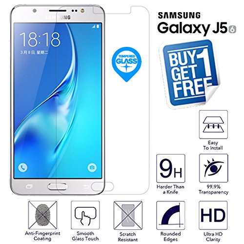 037ded18884 Image Unavailable. Image not available for. Color: BisLinks 2 x for Samsung  Galaxy J5 2016 Tempered Glass Screen Protector ...