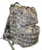 Made in US Army Military ACU Camo Digital MOLLE II Medium Rucksack Backpack + Flag Eagle BAE (Medium, without US logo)