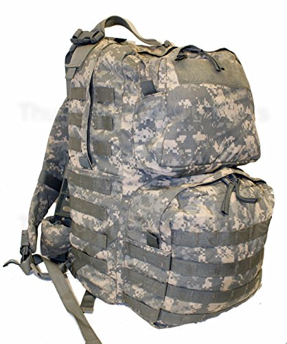 Made in US Army Military ACU Camo Digital MOLLE II Medium Rucksack Backpack + Flag Eagle BAE (Medium, without US ()