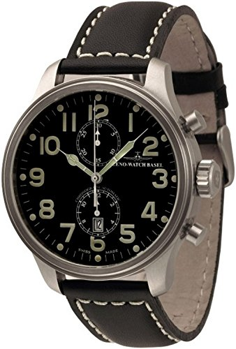 Zeno-Watch Mens Watch - OS Pilot Chronograph Bicompax - 8557BVD-a1