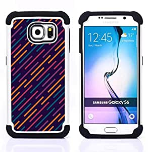 - futuristic lights blue pattern orange - - Doble capa caja de la armadura Defender FOR Samsung Galaxy S6 G9200 RetroCandy
