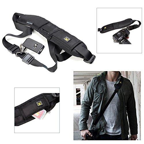 Black Single Shoulder Sling Belt Strap for DSLR Digital SLR