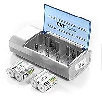 EBL 906 Universal LCD Intelligentes Schnellladegerät und Entladegerät für AA, AAA, C, D, 9V, Ni-MH, Ni-CD wieder aufladbare Batterien (Batterien werden nicht mitgeliefert)