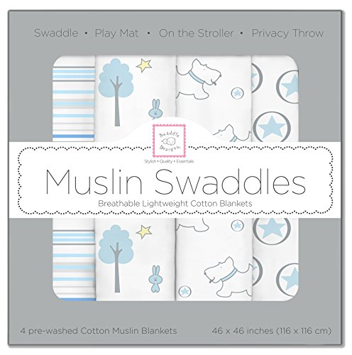SwaddleDesigns Cotton Muslin Swaddle Blankets