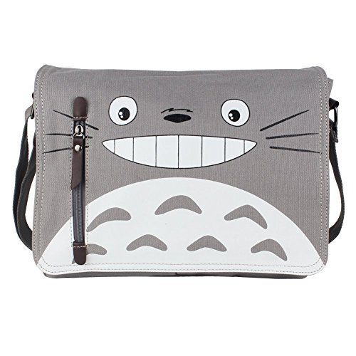 Innturt Anime Classic Messenger Bag Shoulder Bag Satchel (Totoro - Gray) by Innturt