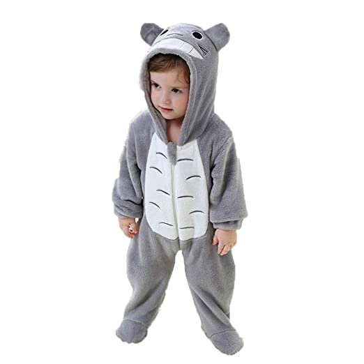 6adec5335 Amazon.com  Lovely Flannel Totoro Koala Romper Jumpsuit for 0-24 ...