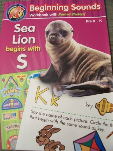 A+ Educational Workbooks  Beginning Sounds (Grade Pre KK) by A+