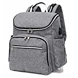 Baby Diaper Bag Backpack Maternity Bag Nappy Backpack Multifunction Traveling Portable Bag Pack (Grey)