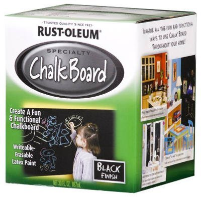 020066118136 - Rust-Oleum 206540 Chalkboard Brush-On, Black, 30-Ounce carousel main 0
