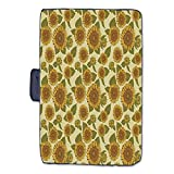 Sunflower Decor Stylish Picnic Blanket Funky Style Sunflower in Pastel Colors Old Fashioned Nostalgic Vintage Art Print Mat for Picnics Beaches Camping 50 L x 78 W