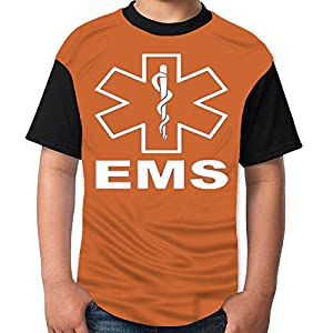 Saygoodbye v2 EMS Emergency Medical Services Tshirt Printed Cotton Boys T-Shirts Best Quality Boys Tee Dark Orange