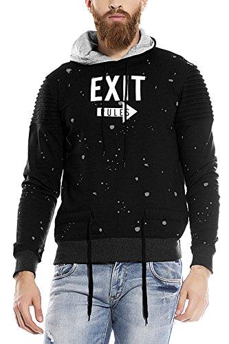 Maniac Men's Fullsleeve Printed Black Cotton Sweatshirt