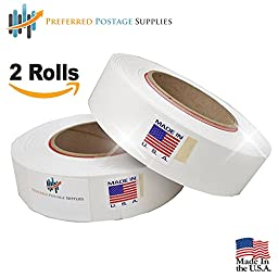 Preferred Postage Supplies USPS APPROVED Extra Large 613-H Connect Tape for Pitney Bowes Connect Series (2 Rolls)