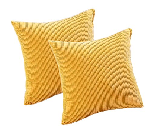 Pack of 2 Throw Pillow Covers (in 8 Colors and