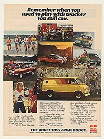 1977 Dodge 4x4 Warlock Ramcharger Street Van Adult Toys Trucks Original Print Ad (47617) - Dodge Ramcharger Truck