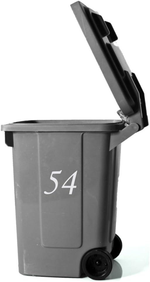 Briefkasten Mülltonnen Gr.10 cm Weiß Aufkleber für :   Haustüren