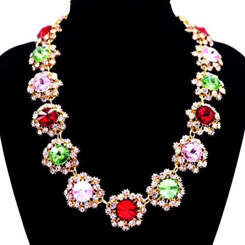 Girl Era Handmade Fashion Jewelry Gems Of Stars Statement Necklaces Charm Collar Necklace For Womens