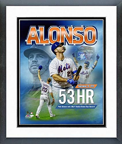 Home Run Photo - Pete Alonso New York Mets Rookie Home Run Record Composite Photo (Size: 12.5