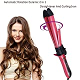 Gawervan 2 In 1 Auto Rotating Curling Iron 1.25 Inch And Hair Straightener,CeramicTourmaline