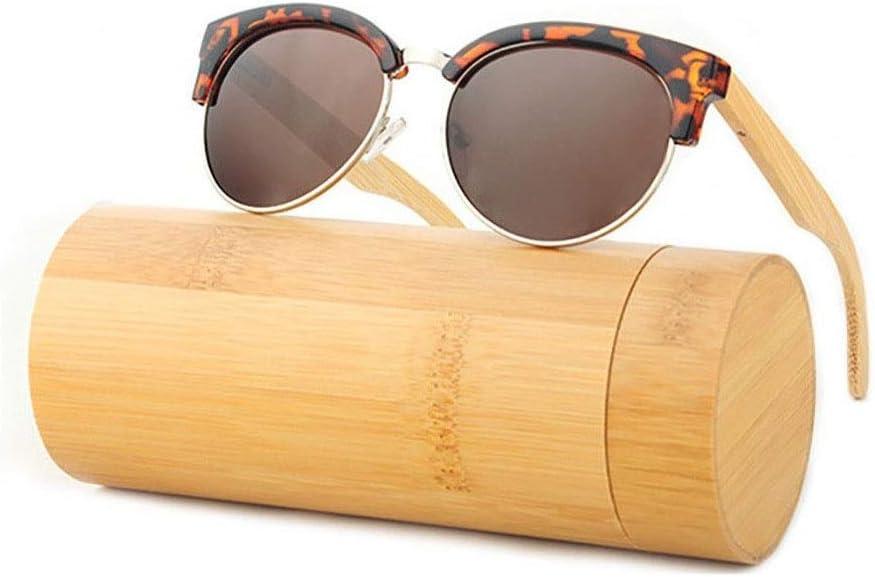 Gafas de sol Glasses Gafas de sol Safety, UV400 Super Light Polarizing Eyewear Protección de las piernas de bambú Damas y caballeros del medio ambiente Conducir bicicleta Pesca Golf y actividades al a