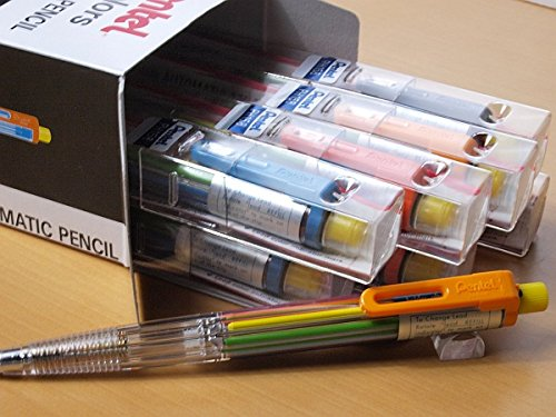 12pcs Pentel PH158ST1 8-Color Automatic Mechanical Pencil (Box Set) by Pentel