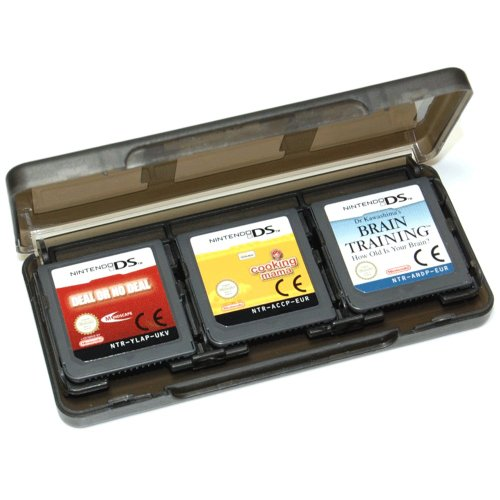Assecure Black 6 Game card holder for Nintendo 3DS, DS, DS lite, DSi & DSi XL storage box 6 in 1 ()