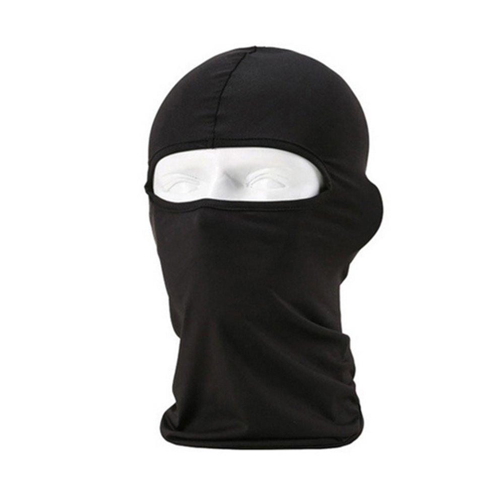 Sanwood® Extérieur de cyclisme moto ski cou Protéger Lycra Cagoule Masque complet noir Noir Phoenix B2C UK