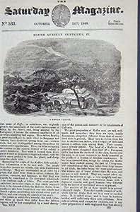 IMPRESIÓN DE LA ANTIGÜEDAD DE ÁFRICA DEL PUEBLO DEL CAFRE DE 1840 VISIÓNES