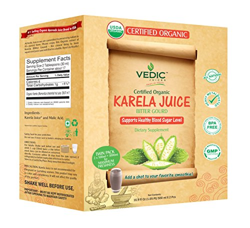 - Karela Juice / Bitter Gourd / Bitter Melon 1000 Milliliter - USDA Certified Organic By Vedic Juices