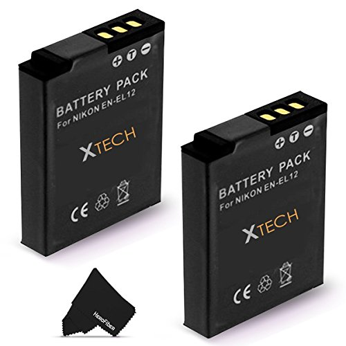 2 Pack EN-EL12 / ENEL12 Battery for NIKON Coolpix A900 AW100 AW110 AW120 AW130 S9900 S9700 S9500 S9300 S9200 S9100 S8200 S8100 S6300 P330 AW300 (Camera Nikon Coolpix Aw100)
