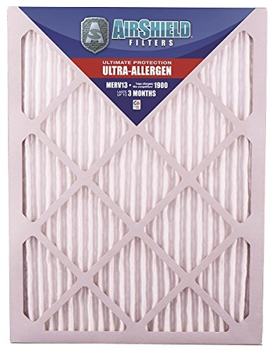 AirShield 20001-204-0031 Ultra-Allergen MERV 13 Superfine Furnace Filters (4 Pack), 16 x 32 x 1""