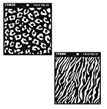 zebra stencils for painting walls - CrafTreat Cheetah & Zebra Template Stencil 6