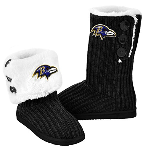 Forever NFL Football Ladies Knit High End Button Boot Sli...