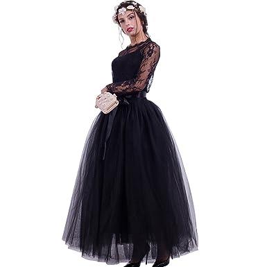 4bd48d48d8915 Maxi Long Tutu Tulle Skirt for Women Floor Length A Line Pleated Puffy  Wedding Bridesmaid Skirts