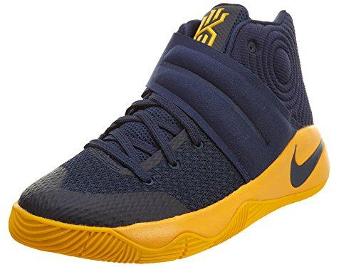 Nike Grade School Boys Kyrie 2 Scarpe Da Basket Mid Navy / Mid Navy-university Gold-un